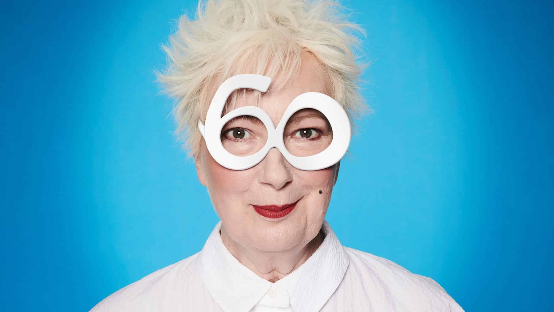 Jenny Eclair portrait from Sixty! (FFS!) production