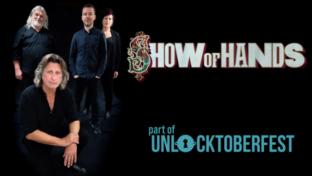 'Show of Hands' cover banner with cast members