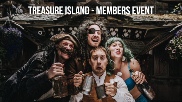 Treasure Island members event cover advert with cast members