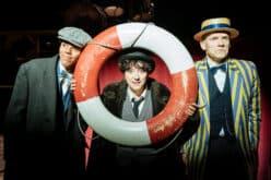 Amalia Vitale in character as Chaplin, mid-performance
