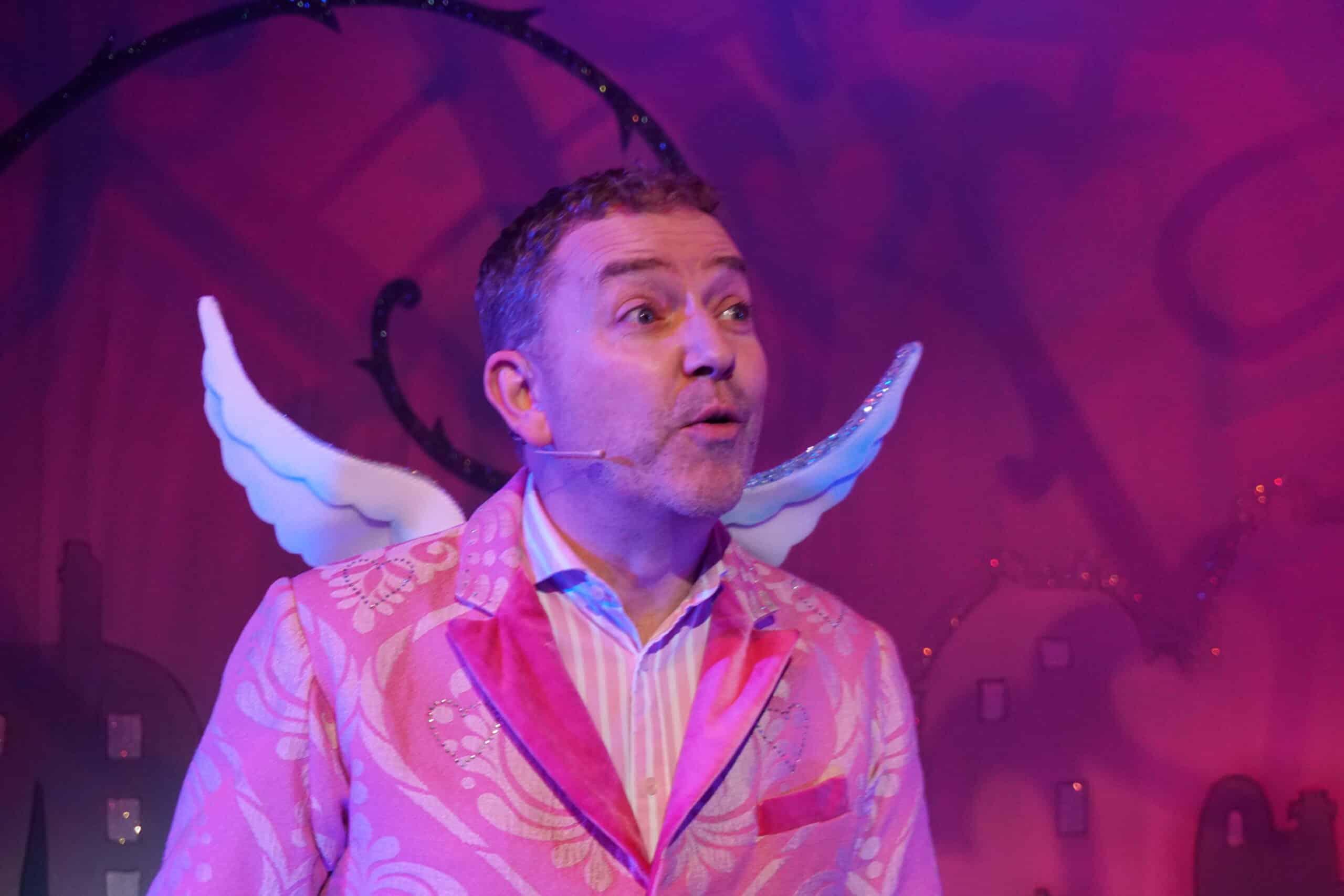 Daniel Buckroyd in character as Cupid
