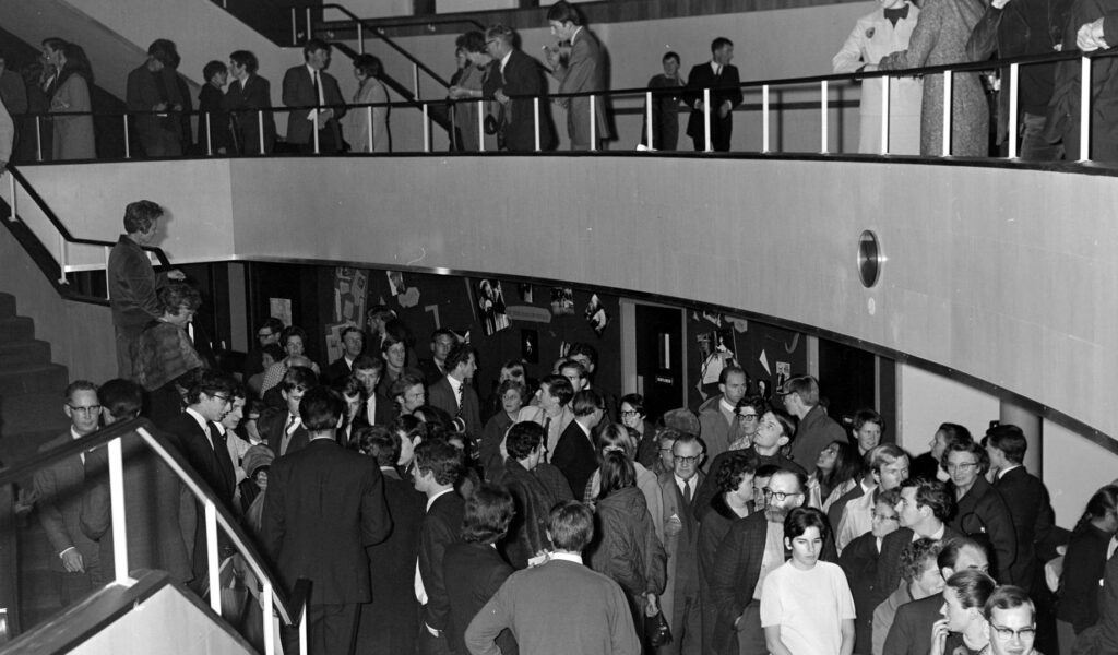 Northcott Theatre Front of House, Opening Night, 2 November 1967,
