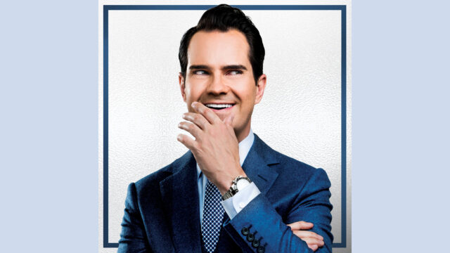 Jimmy Carr portrait for 'Terribly Funny' show