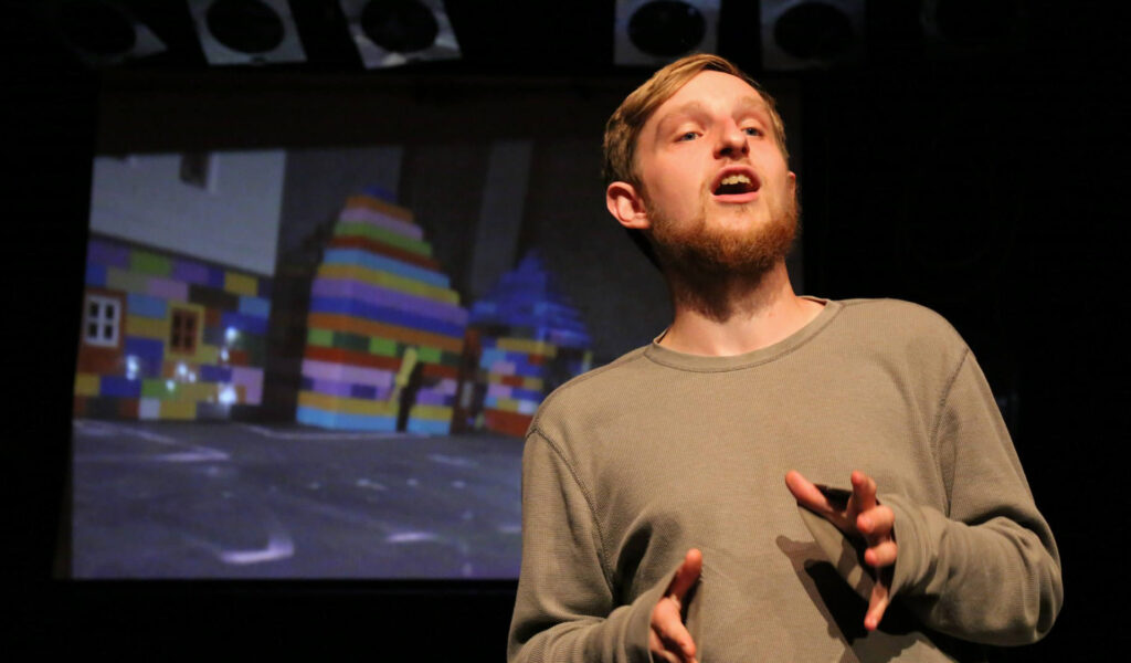 Associate Artist Viv Gordon on stage
