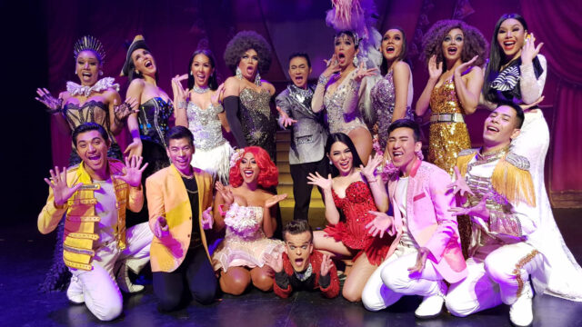 The cast of Ladyboys of Bangkok - colourful, quirky and vibrant