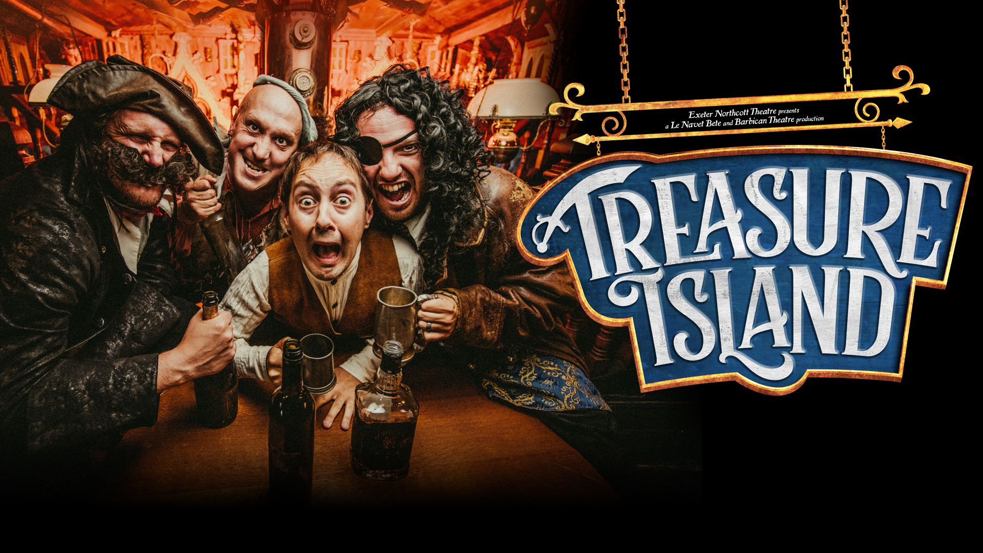 Treasure Island show cover, with characters