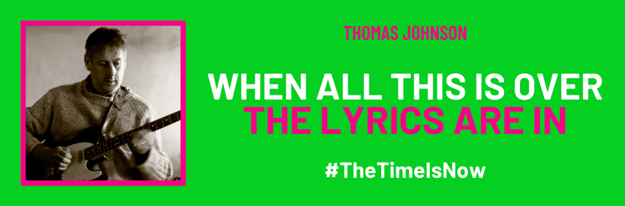 The Time Is Now lyrics promotional poster
