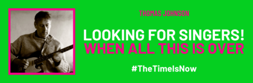The Time is Now virtual choir promotional poster