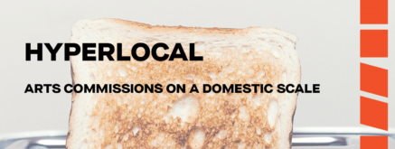 Poster of a piece of toast with text overlay reading