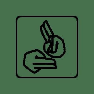Sign language symbol