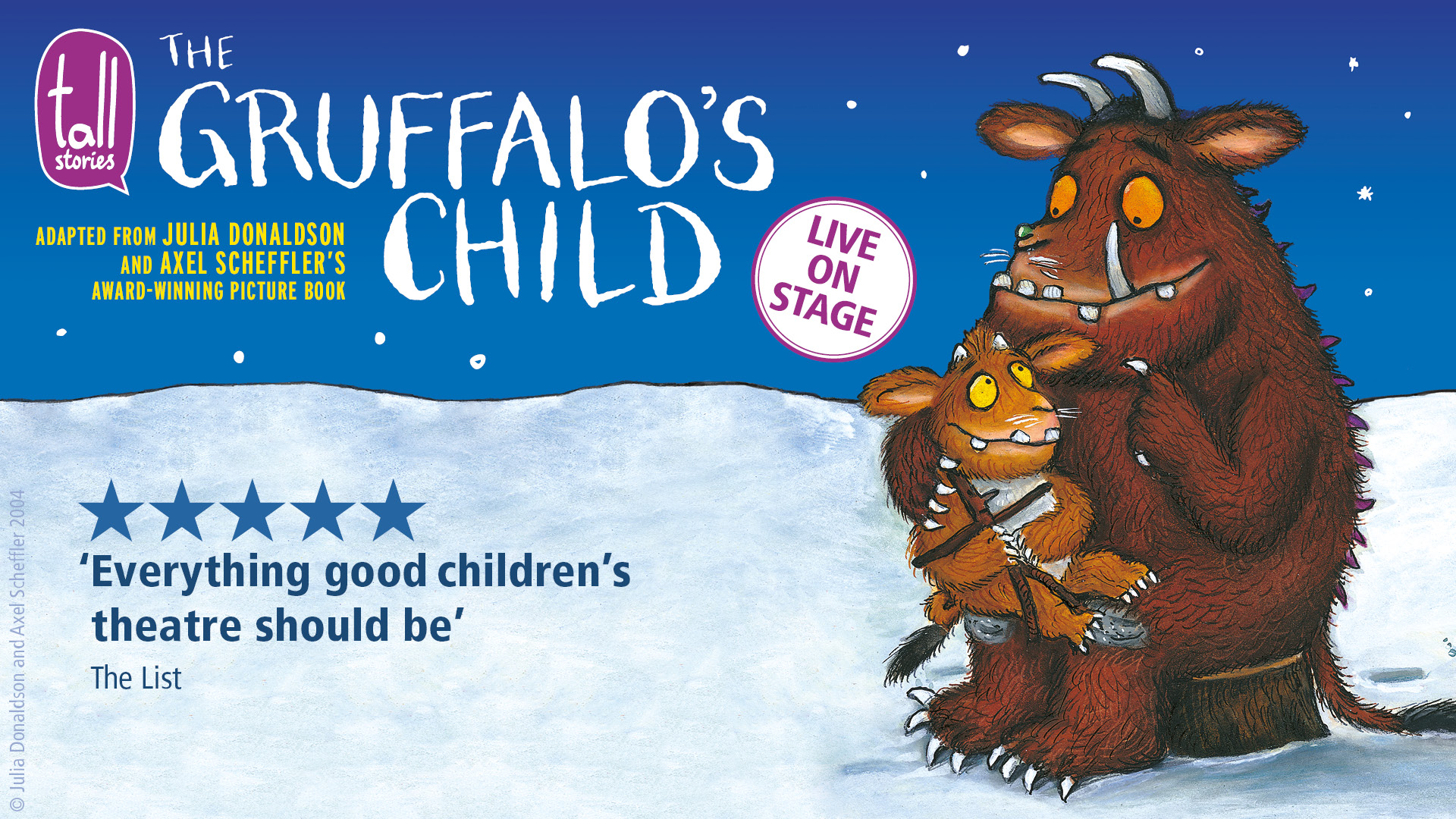 The Gruffalo's Child promotional image (picture book drawing)