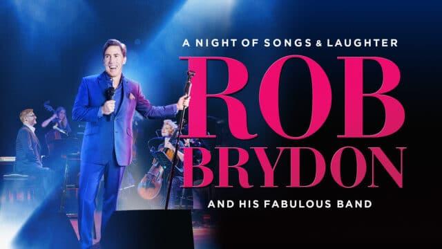 Promotional image - Rob Brydon on stage