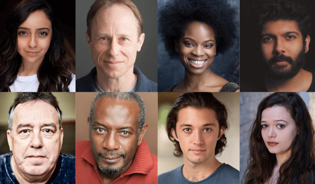 Headshots of the cast of Antigone, a Northcott Production