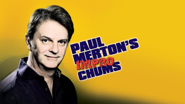 Image of Paul Merton with the text 'Paul Merton's Impro Chums'