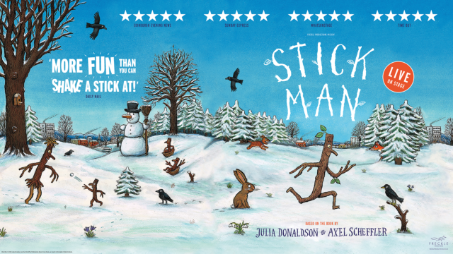 Stick Man illustration as in the books.