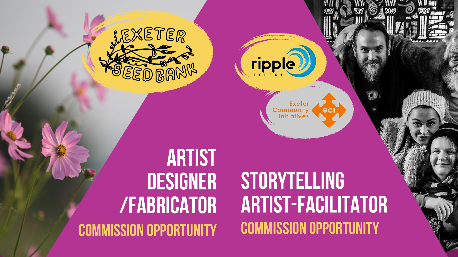Commission opportunities: Storytelling artist-facilitator and Artist - Designer/Fabricator