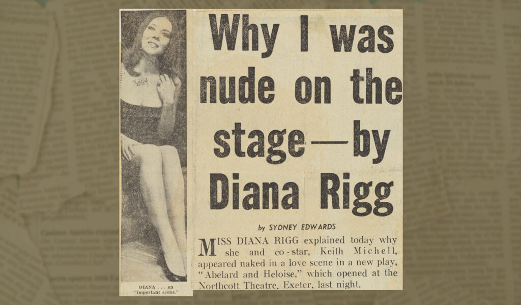 Why I was nude on the stage - by Diana Rigg Newspaper article April 1970