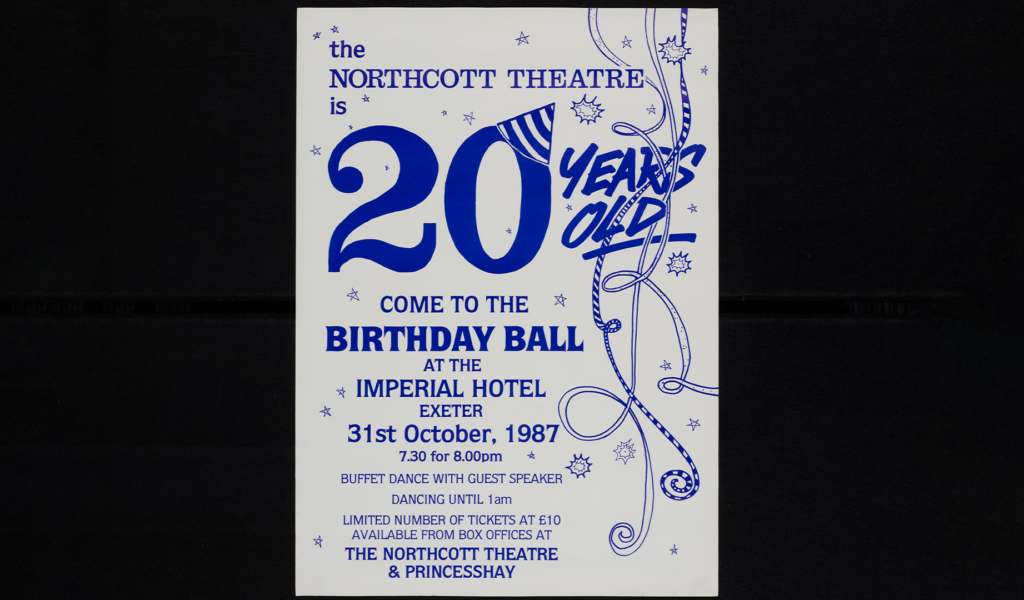 Poster advertising the Northcott's 20th Birthday, 1987