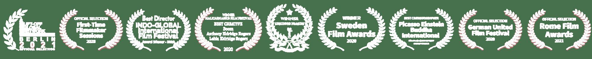 Award logos for BOOM